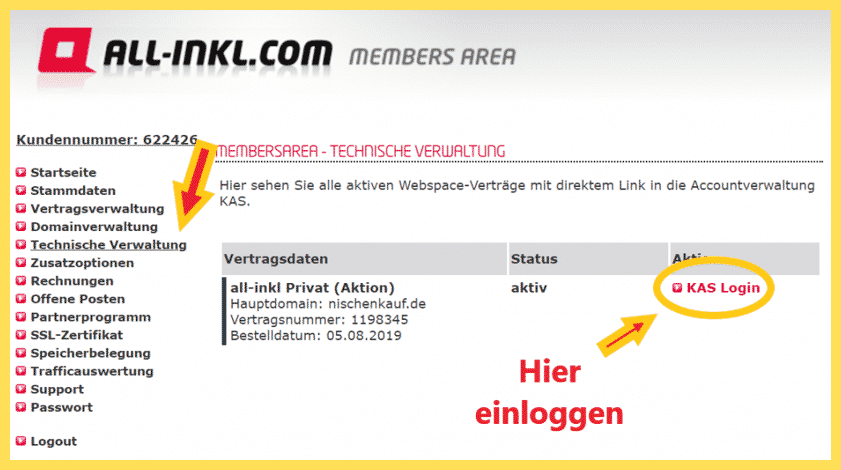 Wordpress 1 Klick Installation - AllInk Erklärgrafik