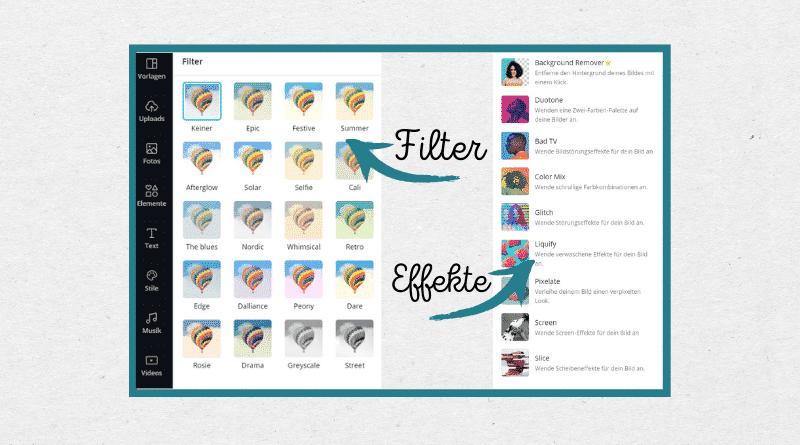 Canva tutorial - Filter und Effekte