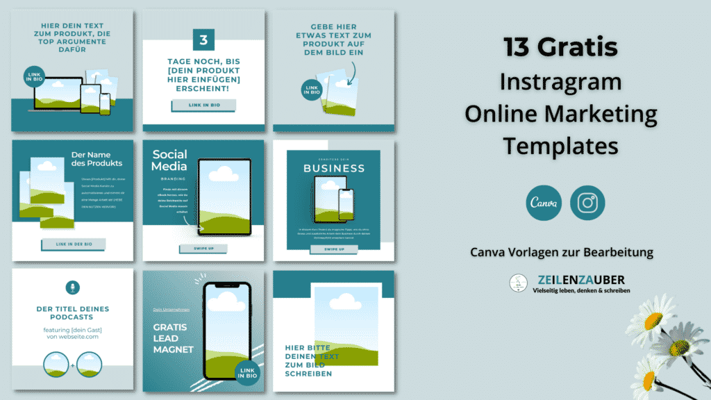 12 Gratis Instagram Vorlagen - Grafik